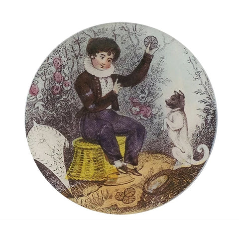 "John Derian Plate ""Boy With Dog"""