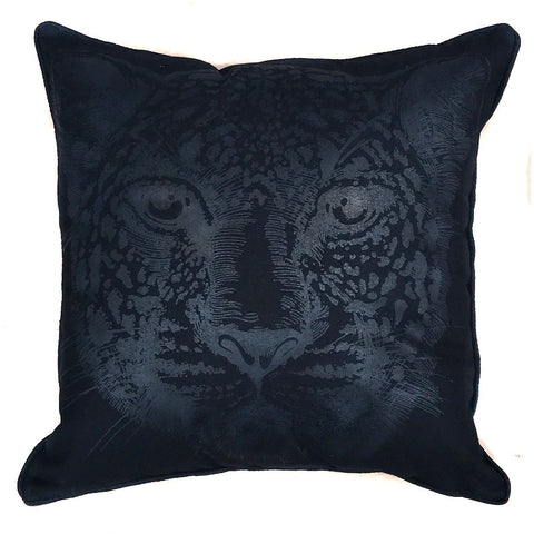 Black Leopard Pillow