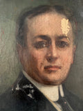 Antique Oil Painting Distinguished Gentleman
