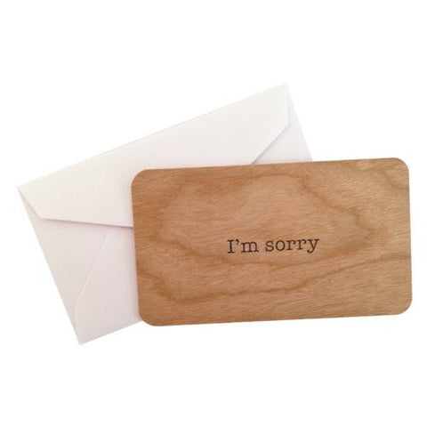 Mini Wood Card I'm Sorry