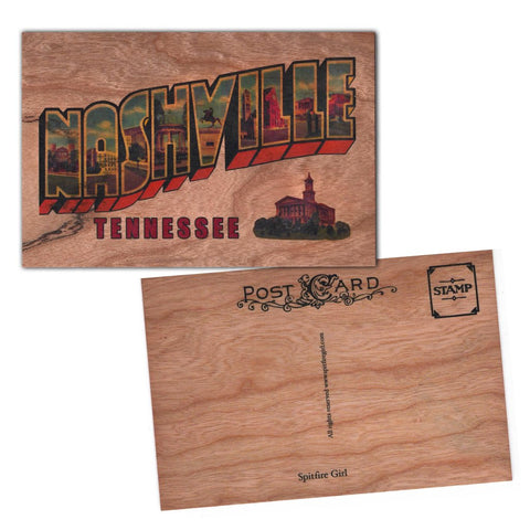 Wood Postcard Nashville