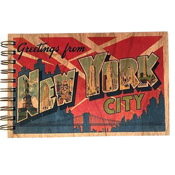 Wood Bound Journal Greetings From New York