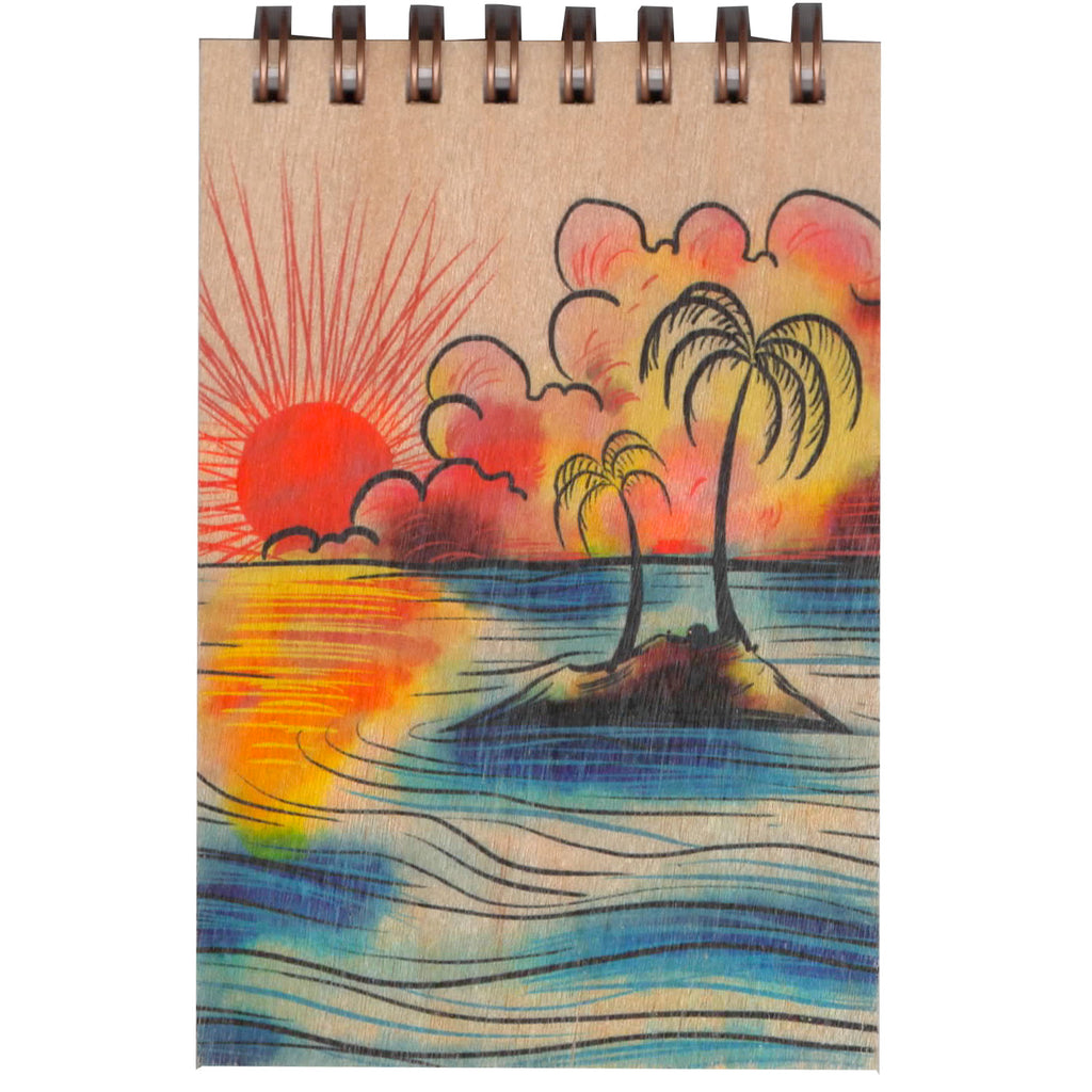 Wood Notepad Sunset Small