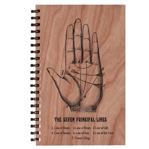 Palmistry Wood Notebook