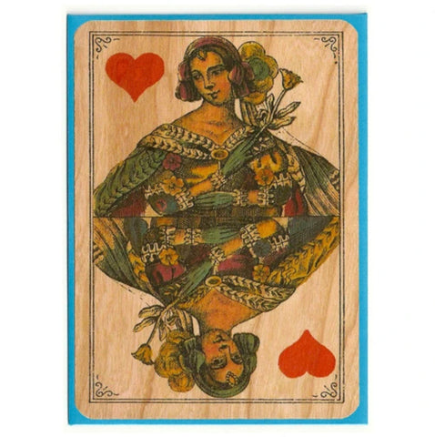 Queen Wood Card