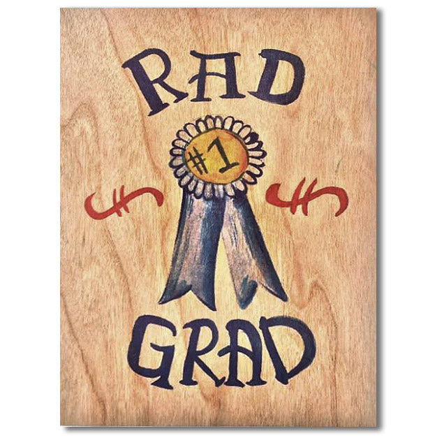 Graduation Wood Folding Card~ Rad Grad