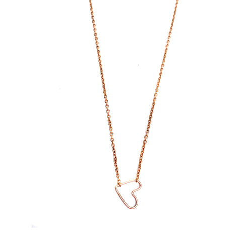 Wendy Faye Rose Gold Heart Necklace