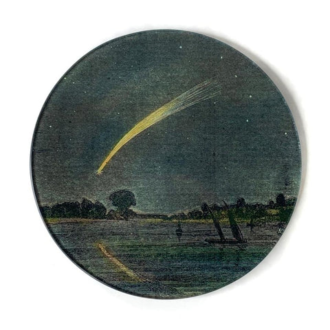 "John Derian Plate ""Shooting Star"""