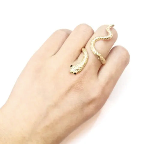 Gold Snake Ring Adjustable