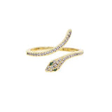 Pave Snake Ring Adjustable