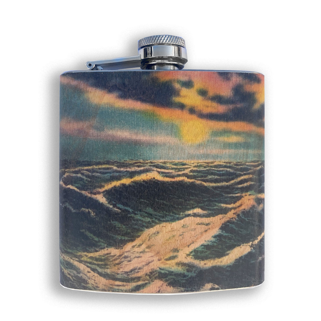 Landscape Wood Flasks