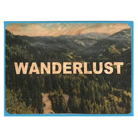 Everyday Wanderlust Wood Card