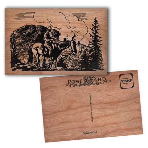 Wood Postcard Wilderness Rider