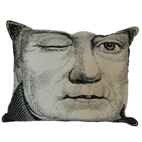 Spitfire Girl Winking Man Pillow