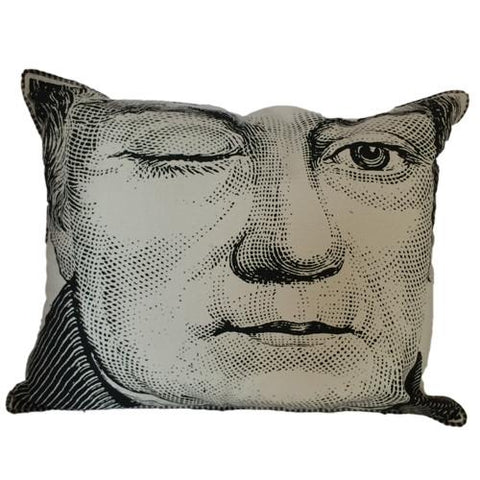Winking Man Pillow