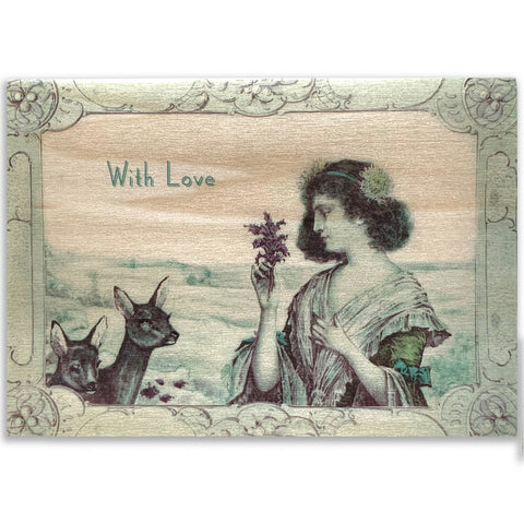 With Love Wood Cards