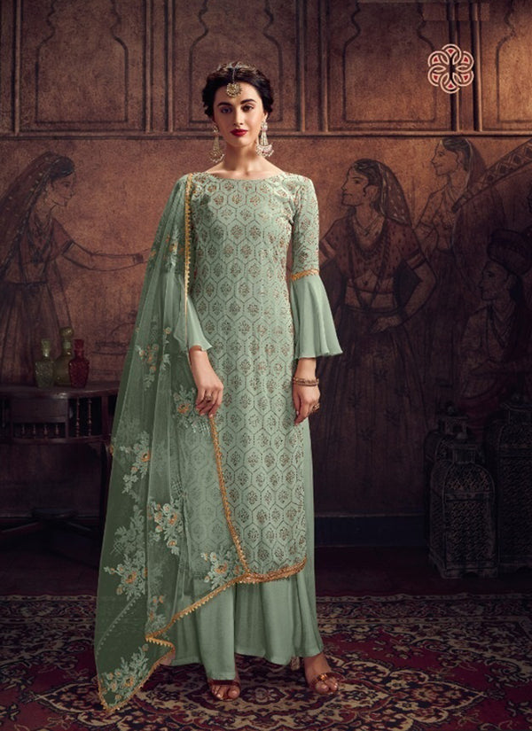 Green Georgette Salwar Suit
