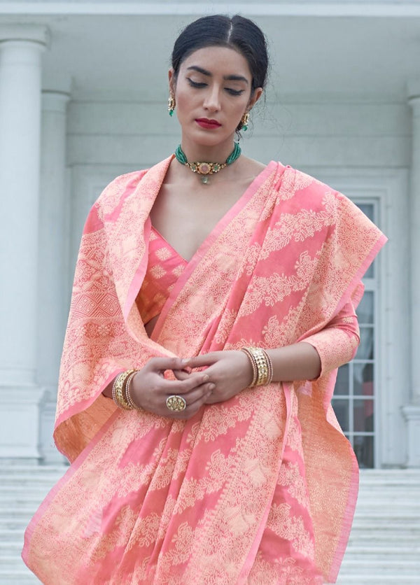 Light Pink Fancy Designer Saree