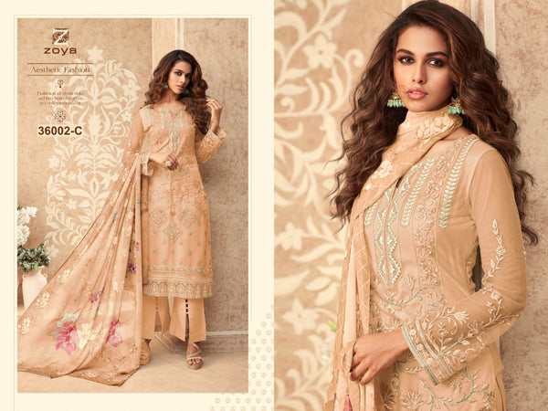 Pitch Embroidered Net Salwar Kameez