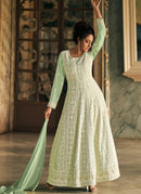 Mint Green Embroidered Anarkali Suit