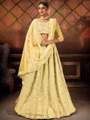 Light Yellow Party Wear Lehenga Choli