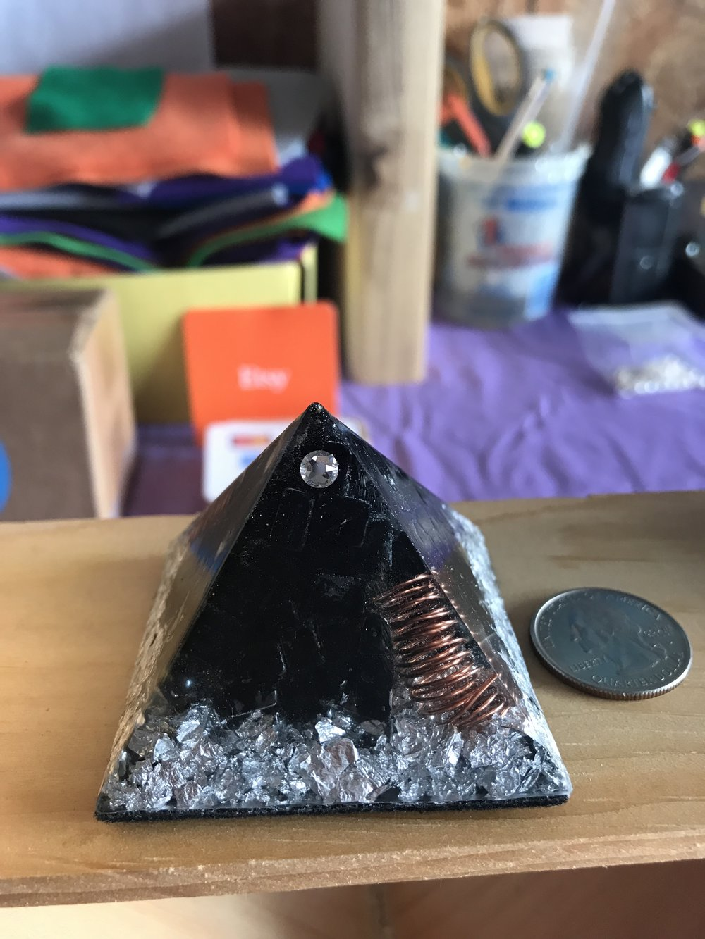 GROUNDING & MENTAL STABILITY ORGONE, ORGONITE PYRAMID