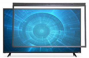 Overlay touch screen display