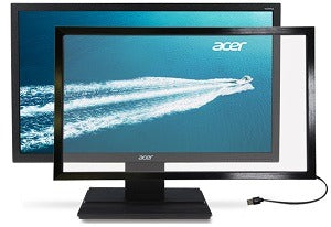 Overlay touch screen monitor