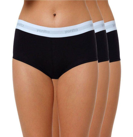 Ladies 3x Modern-Sports-Collection Hipster-Panty - cottonpremierr