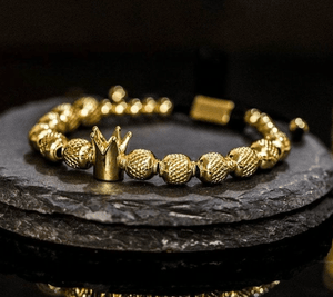 Handmade Golden Crown Bracelet for him