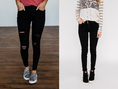 styling black jeans