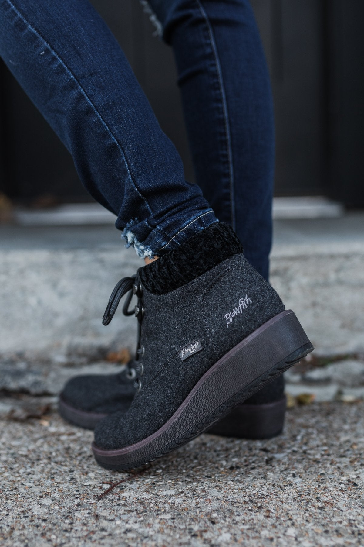 Blowfish Comet Booties- Grey & Black
