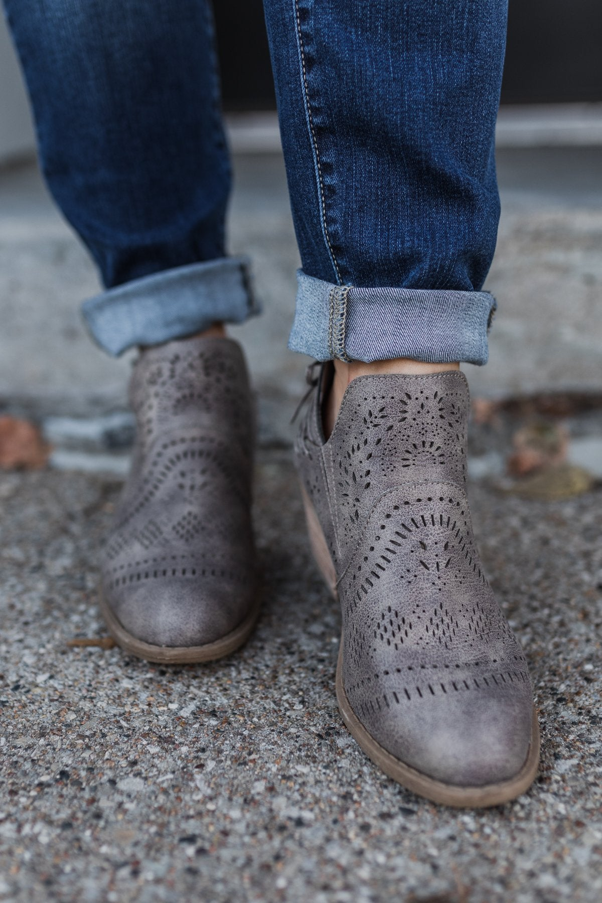 Very G Cindy Booties- Grey