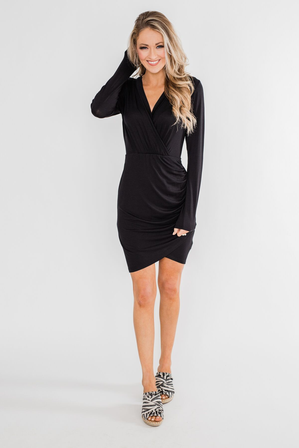 ae07816b154f Truly Elegant Long Sleeve Fitted Dress Outfit – The Pulse Boutique