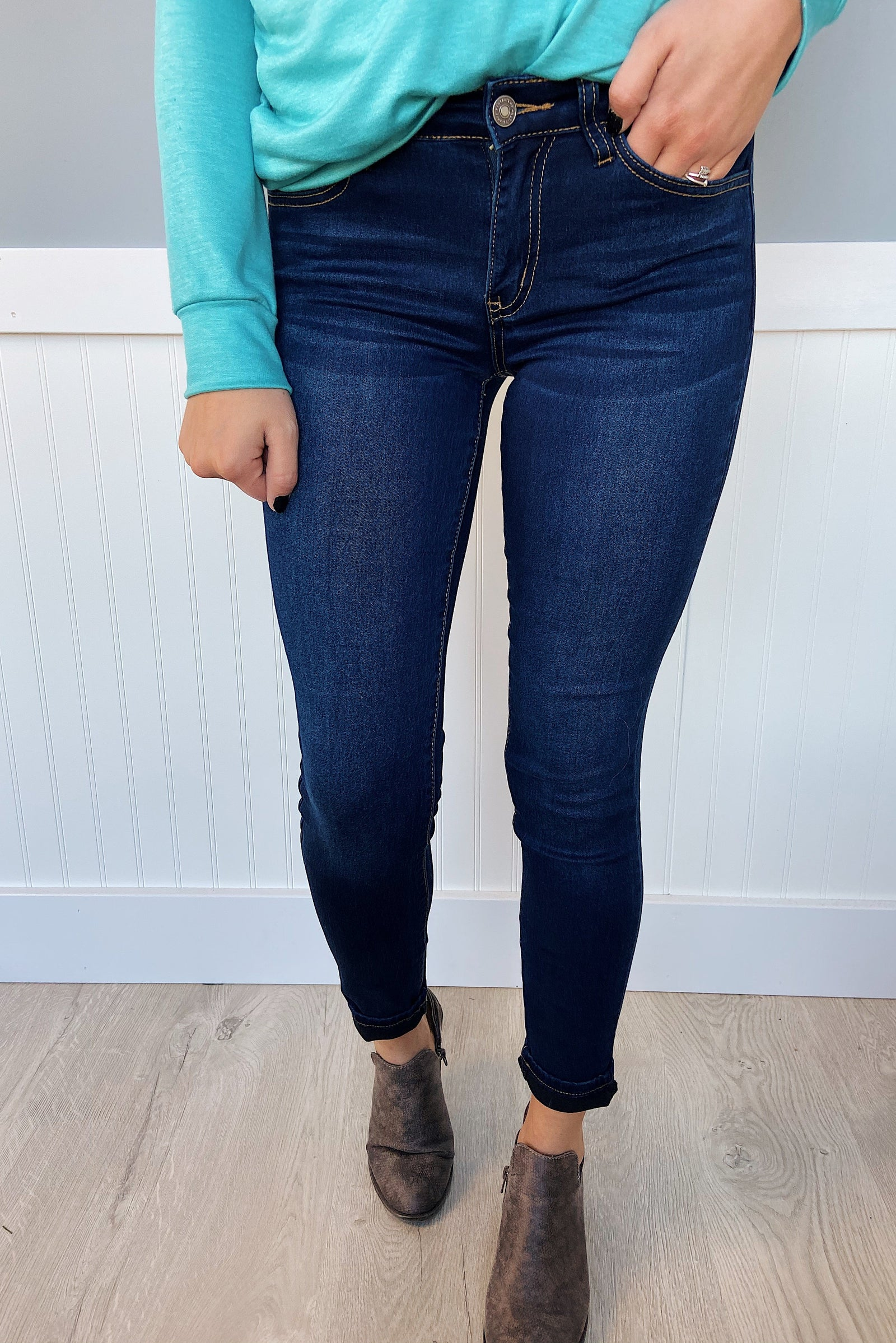 KanCan Non-Distressed Jeans- Paige Wash