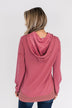 Crazy About You Drawstring Hoodie- Deep Mauve