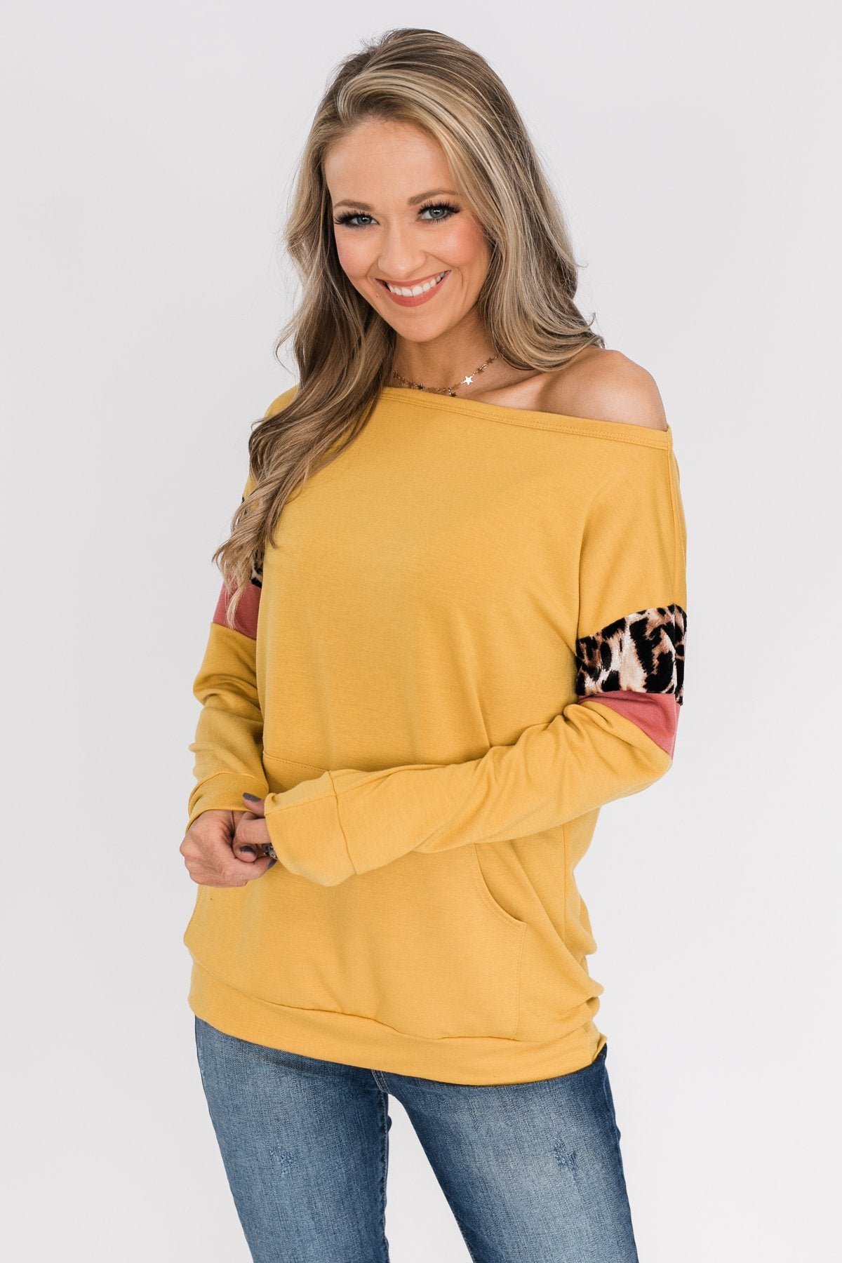If I Were You Pullover Top- Mustard