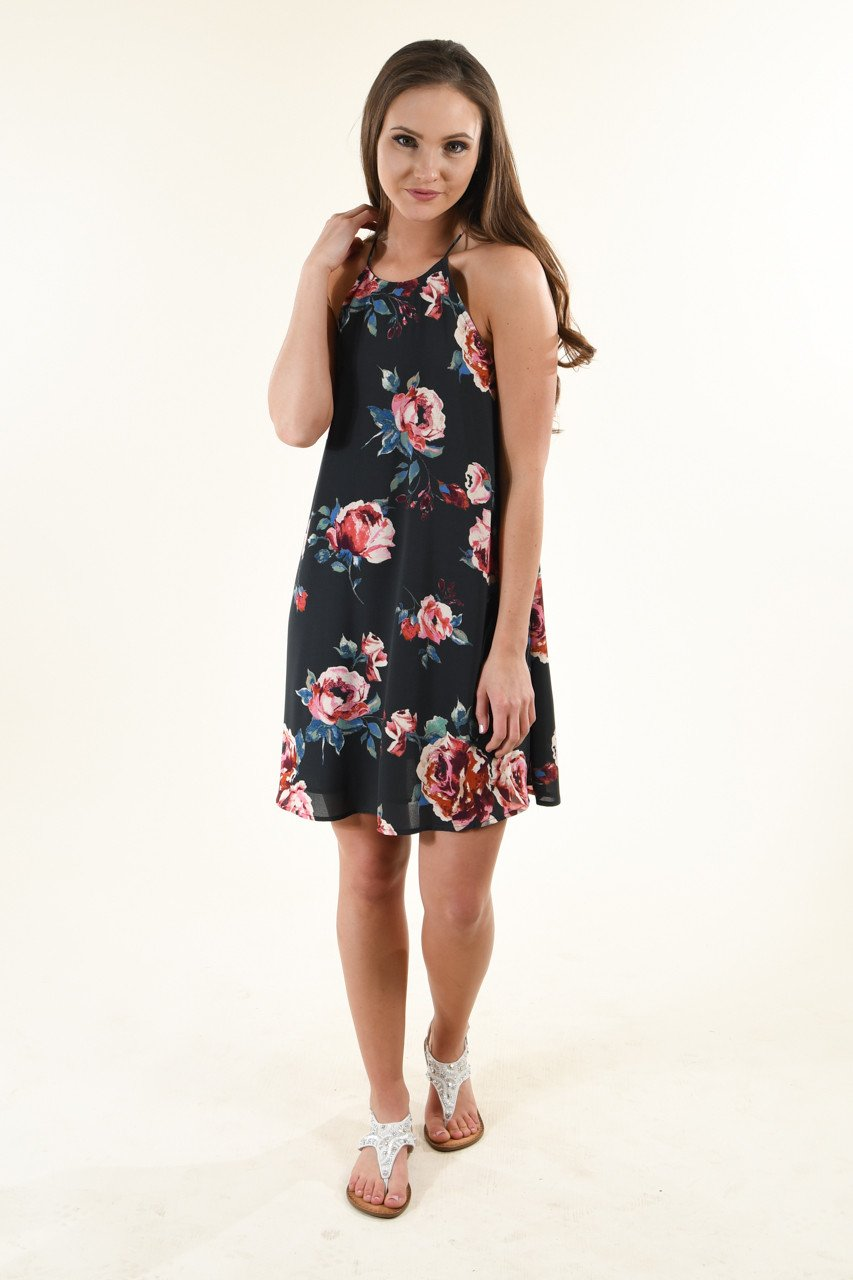 Susie Navy Floral Dress