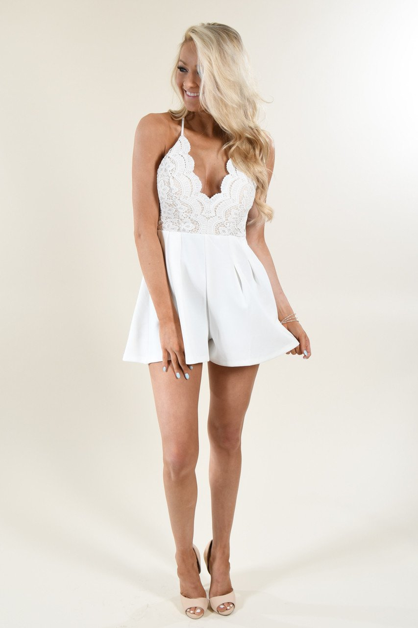 Better Watch Out Cream Romper