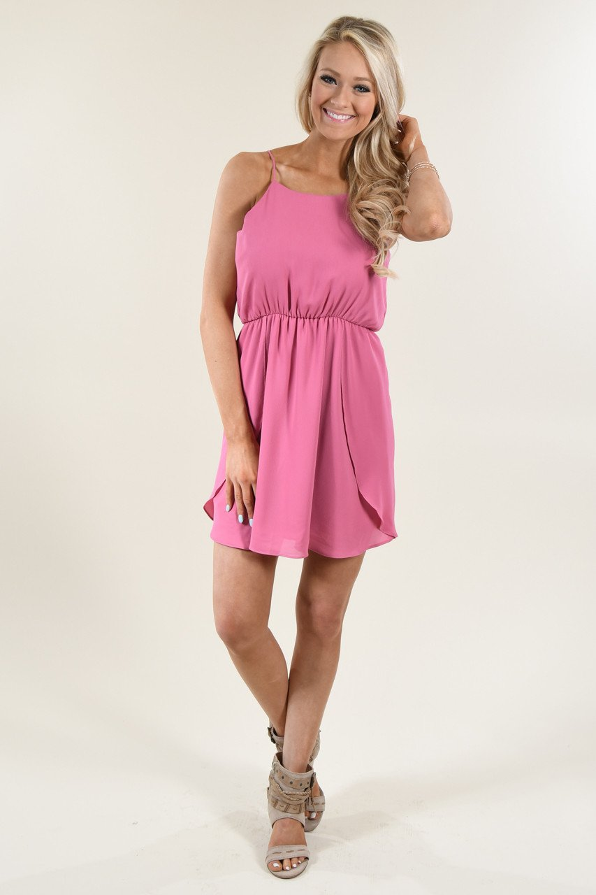 Everly Kiss Me Pink Dress