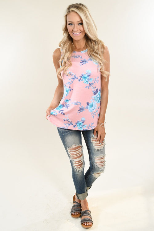 Show Your Best Side Floral & Stripes Top