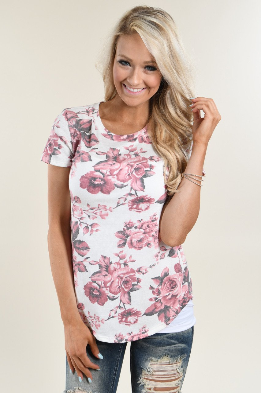 Pretty as a Picture Pink Floral Top