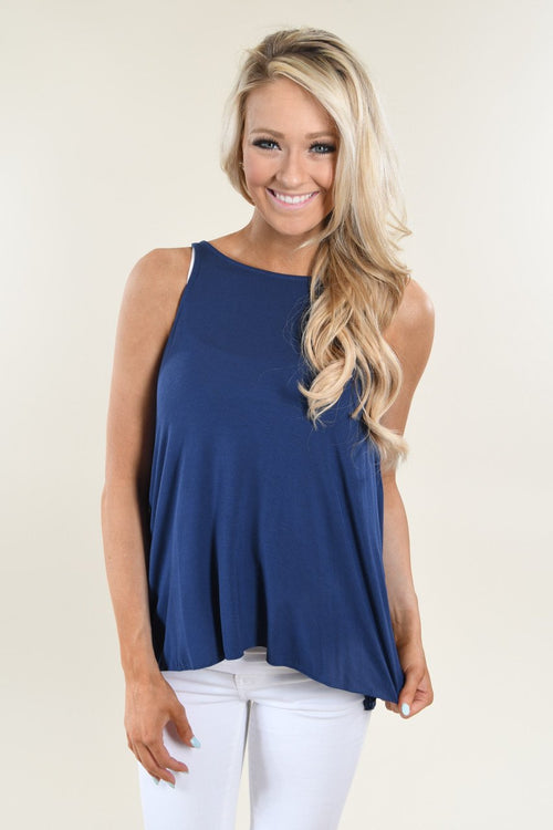 Smooth Ride Tank Top ~ Navy