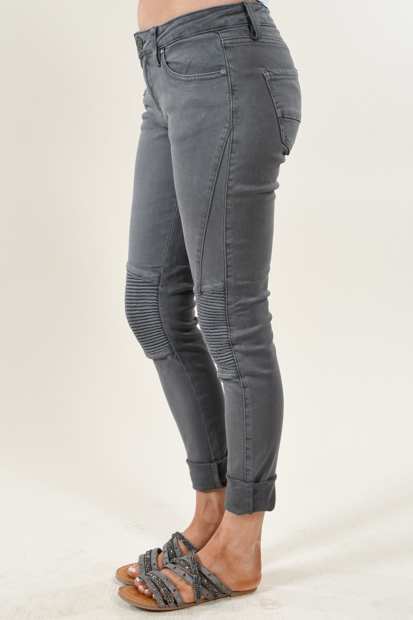 Dark Grey Moto Pants
