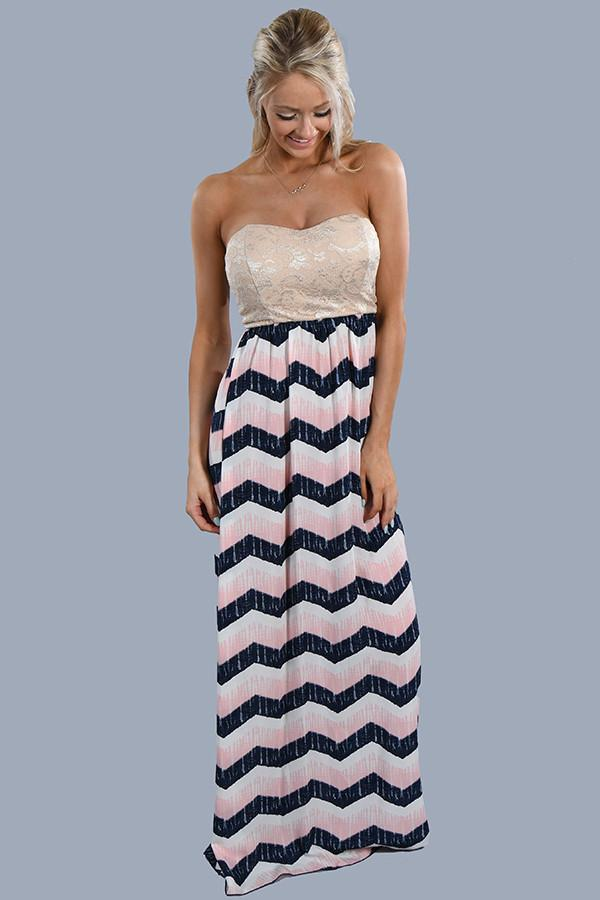 Make an Entrance Strapless Maxi Dress