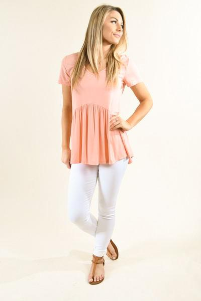 Be My Baby Top ~ Light Coral
