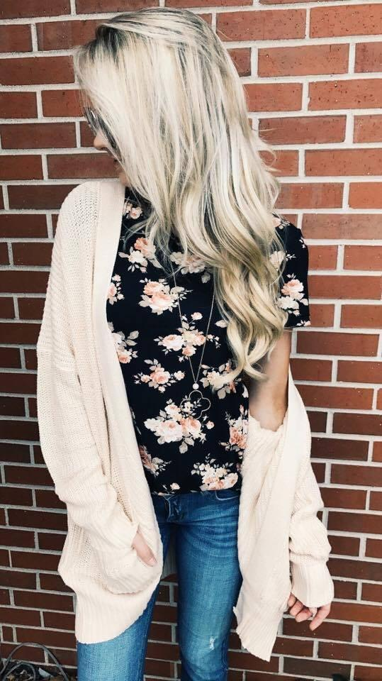 Draped in Love Cardigan ~ Cream