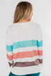 Have Some Fun Striped Pullover Top- Ivory
