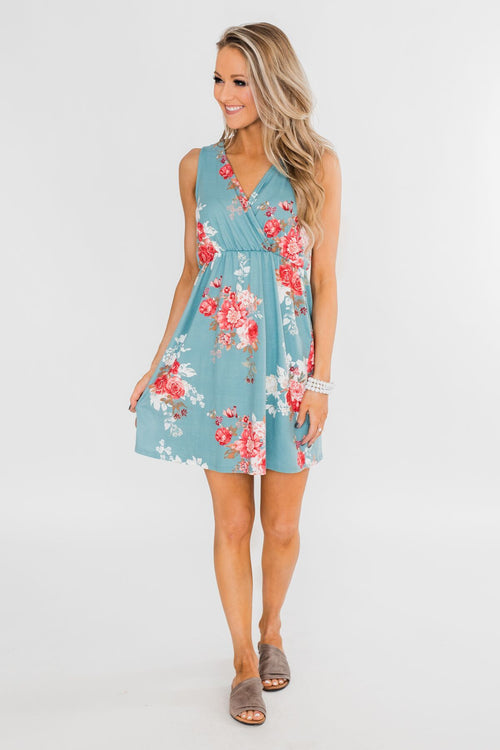Soak Up The Sun Floral Dress Outfit
