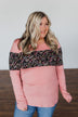 Hold Me Up Floral Color Block Top- Mauve Pink